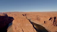 Aerial Arizona Horseshoe Bend Grand Canyon video