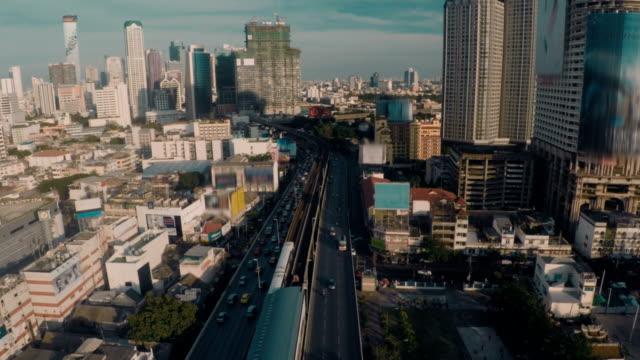 Aerial ,Bangkok Cityscape video