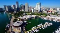 Aerial Bayside Miami video