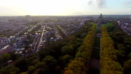 Aerial Brussels shot city park National Basilica of Sacred Heart. Beautiful aerial shot above Europe, culture and landscapes, camera pan dolly in the air. Drone flying above European land. Traveling sightseeing, tourist views of Belgium. video