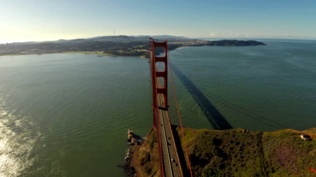 Aerial California SF Golden Gate video