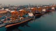 Aerial Cargo Container Ship video