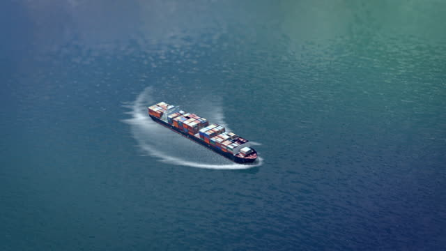 Aerial Cargo Ship video