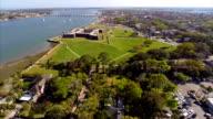 Aerial Castillo De San Marcos video