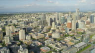 Aerial Cityscape view Seattle Finance Center Pike Place fish Market video