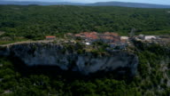 Aerial - Cliff town Lubenice video
