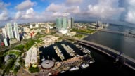 Aerial Downtown Miami and Bayside video