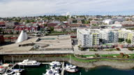 Aerial Downtown Tacoma Skyline video