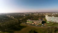 Aerial drone flight over Amsterdam suburbs video