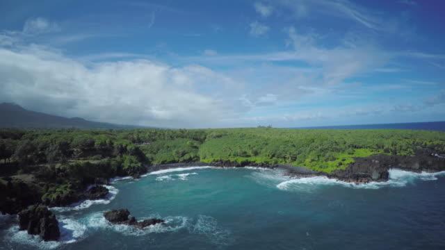 4K Aerial Drone Maui, Hawaii, Hana Coast video