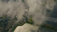 Aerial Drone Shot Showing Rural Parts of the UK, including Water Reservoirs and a Solar Panel Array video