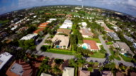 Aerial drone video Boca Raton golf course neighborhoods video