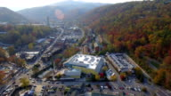 Aerial drone video Gatlinburg Tennessee USA video