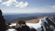 Aerial flight over ridge in the Pacific Northwest video