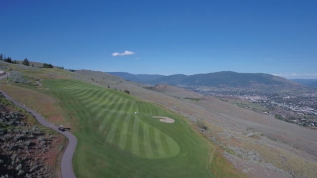 Aerial Fly by of Golf Course video