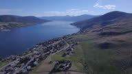 Aerial fly by of Lake video