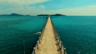 Aerial: Flying over the Rawai pier. video
