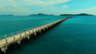 Aerial: Flying to the Rawai pier. video