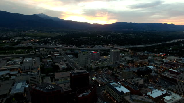 Aerial Flyover of downtown Colorado Springs video