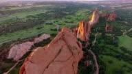 Aerial Flyover of Garden of the Gods in Colorado Springs, Colorado video