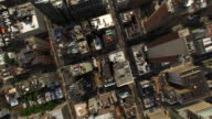 NYC Aerial Flyover Shot Gold Top Building video