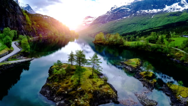 Aerial footage from Beautiful Nature Norway. video