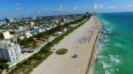 Aerial footage Miami Beach video