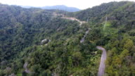 UHD, Aerial footage of a mountain road. video