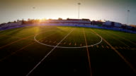 Aerial footage of a Outdoor Football Field video