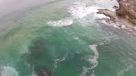 Aerial footage of a shoreline video
