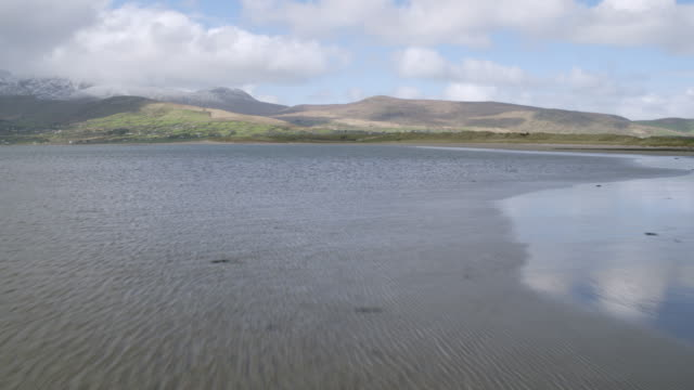 Aerial Footage Of Beautiful Sea And Mountains Against Cloudscape video