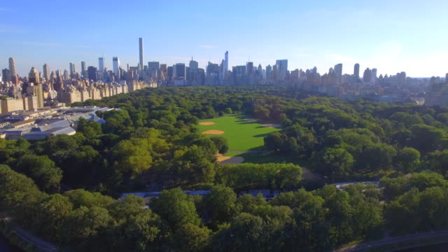 Aerial footage of Central Park New York video