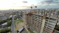 Aerial footage of construction site. video