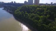 Aerial footage of Fort Lee NJ video