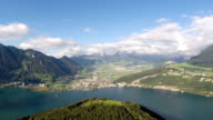 Aerial Footage of lake Lucerne in Central Switzerland video