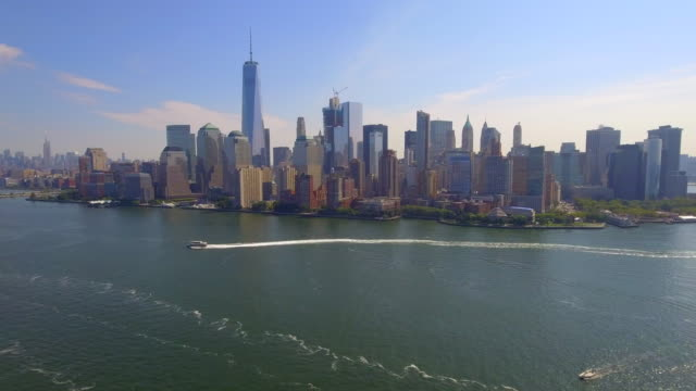 Aerial footage of Manhattan NY video