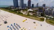 Aerial footage of Miami Beach video