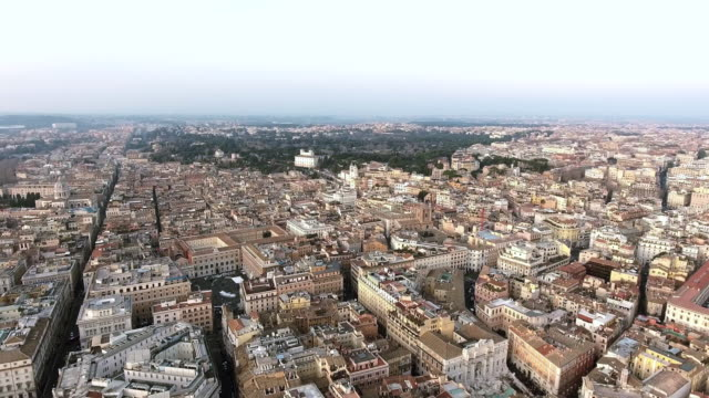 Aerial Footage of Rome Cityscape Urban View video