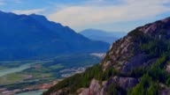 Aerial Footage of Squamish Valley, Sea to Sky Corridor video
