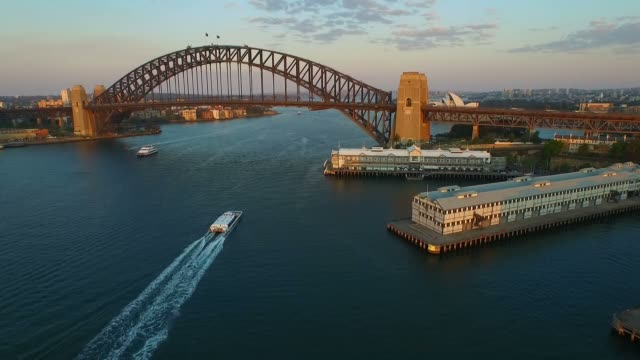 Aerial footage of Sydney Harbour Bridge video