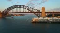 Aerial footage of Sydney Harbour Bridge video