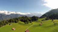 Aerial Footage of the bernese oberland in Switzerland video
