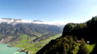 Aerial footage of the Bernese Oberland, Switzerland video