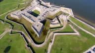 Aerial footage of the Castillo de San Marcos video