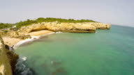Aerial Footage Praia de Albandeira - Caramujeira, Lagoa, Algarve, Portugal video