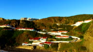 Aerial from the village Arifana in Portugal video
