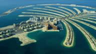Aerial Golden Mile, Palm Jumeirah, Dubai video