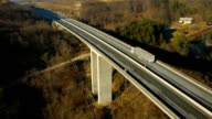 Aerial HD: Fly Along Highway Viaduct video