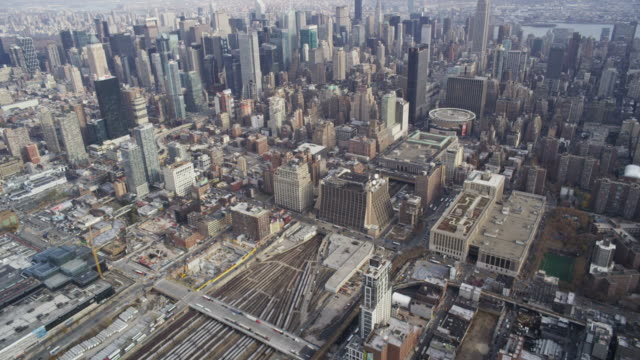 Aerial high over Manhattan video