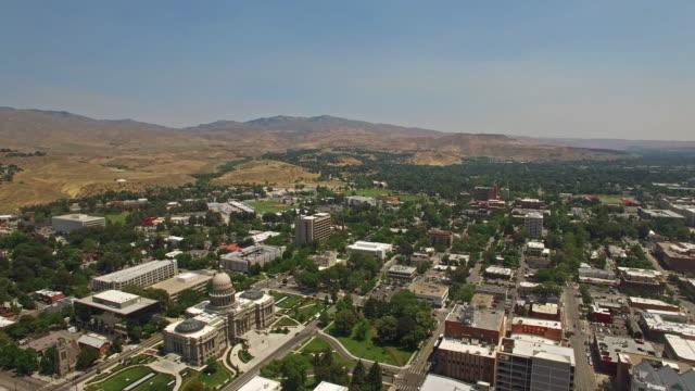 Aerial Idaho Boise video
